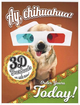 Order Your 3-D Yearbooks Before It's Too Late!
