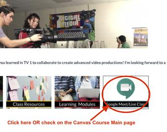 Google Meet Link in Canvas