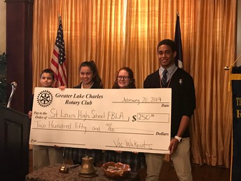 FBLA Executive Board Receives Check from Rotary Club