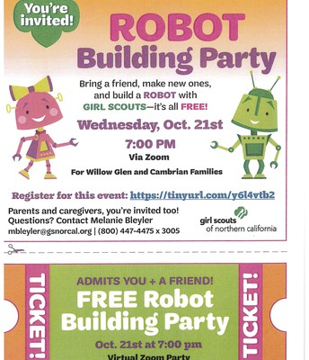 Girl Scouts Robot Building Party