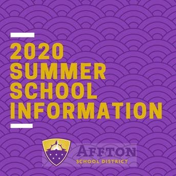 Summer School Enrollment Information