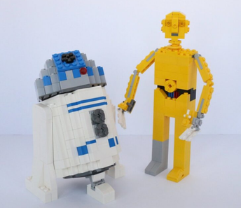 LEGO Star Wars R2-D2 and C3PO Building Instructions