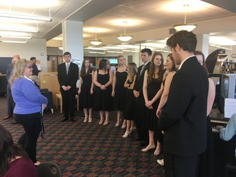 Jazz Central performs at the Hall of Fame ceremony.