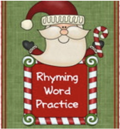 Rhyming Words Activity: Practice matching rhyming words with this nice Christmas themed activity