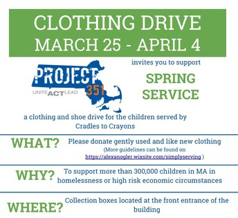 Project 351 Spring Clothing Drive