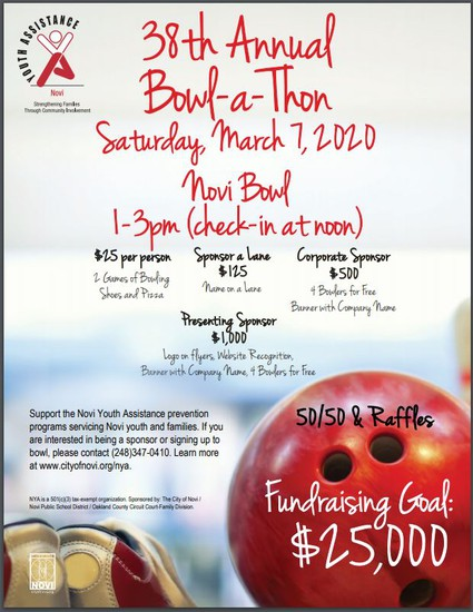 Bowl-a-Thon Flyer