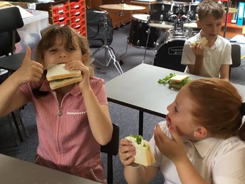 Year Five enjoyed the lettuce from the garden
