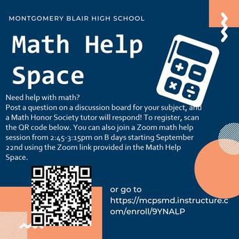 Math Honor Society Tutors:
