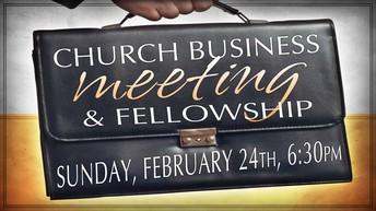 Business Meeting & Dessert Social