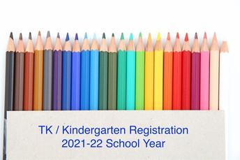 Registration for TK/Kindergarten is Open! Register Soon!