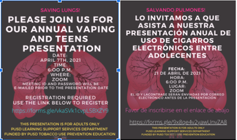 BMMS Vaping Presentation for Families