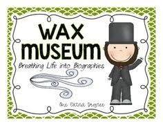 3rd Grade Living Wax Museum