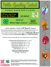 Speech & Presentation Contest Information! - MARCH 28th!