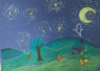 """Spooky Starry Night"""