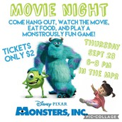 Monsters Inc. Movie Night