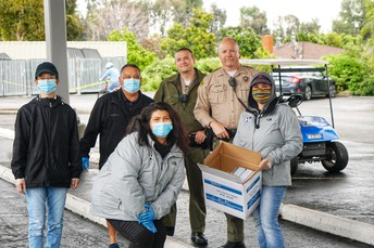 Walnut Sheriff Donates Masks!