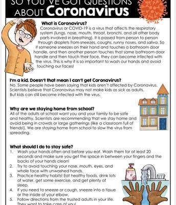 Student Resource Guide for Coronavirus (English)