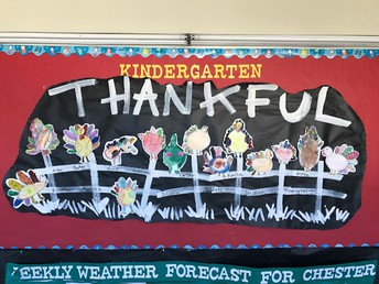 Kindergartners counting their blessings!