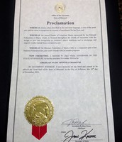 Proclamation from Governor Jay Nixon