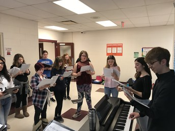 SMS Chorus Winter Concert Rehearsal