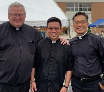 Fr. Jay, Joseph, our seminarian and Fr. Edgar~