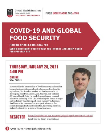 Global Health Seminar Series:  COVID-19 and Global Food Security