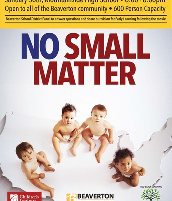 Early Learning documentary No Small Matter