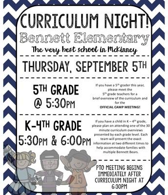 Bennett Curriculum Night