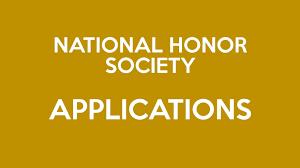 SENIORS - NATIONAL HONOR SOCIETY APPLICATIONS!!!