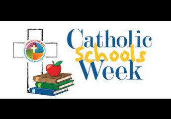 The theme for this year's Catholic Schools Week is Catholic Schools: Faith. Excellence. Service. We will be focusing on these by doing mini service projects, class activities, and dress out days (much like a spirit day).