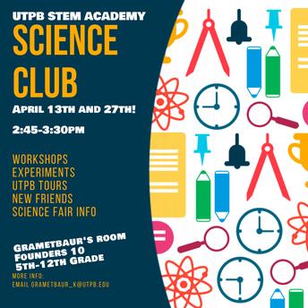 April Science Club