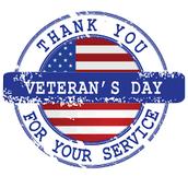 Veterans Day Program ~ November 10, 2017