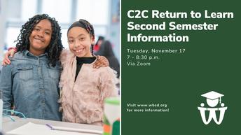 C2C Return to Learn Second Semester Information webinar - Nov. 17
