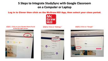 Google Classroom & StudySync on Computer / Laptop