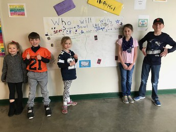 CES students signing up for who they think will win Super Bowl LIII - Rams are more popular at CES.