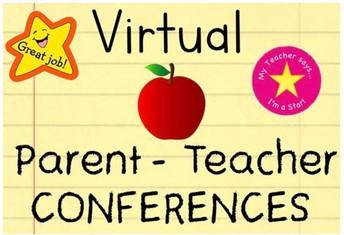 VIRTUAL PARENT/TEACHER CONFERENCES NOV. 3RD.
