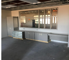 Casework installation at the new Lakeside Elementary School