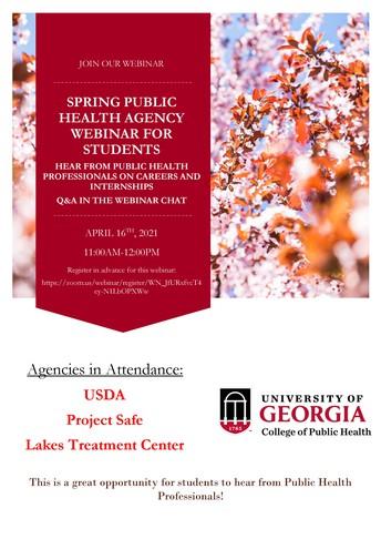 Spring Public Health Agency Webinar
