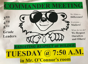 Wilder Commander Club Meetings