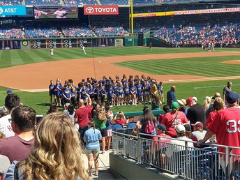 The Pine Road Chorus sang the National Anthem at the Sept. 15 Phillies Game