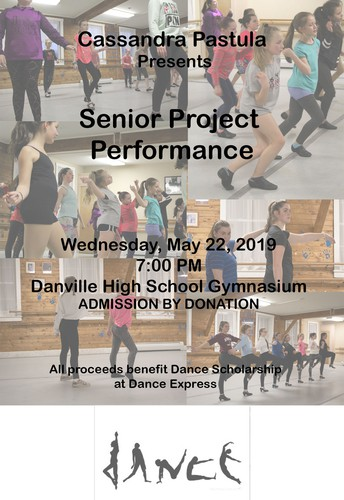 Recital to benefit Dance Express-  Wednesday, May 22nd at 7pm