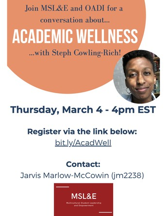 Make Academic Wellness a part of your successful semester!