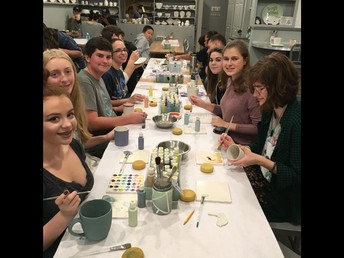 Youth Group Painted Plate Party