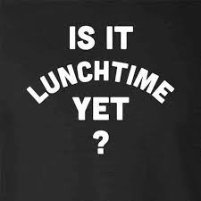 When do I eat lunch?