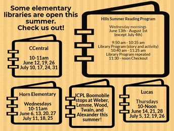Some elementary libraries are open this summer!