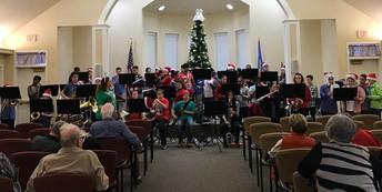 7th Grade Band Caroling