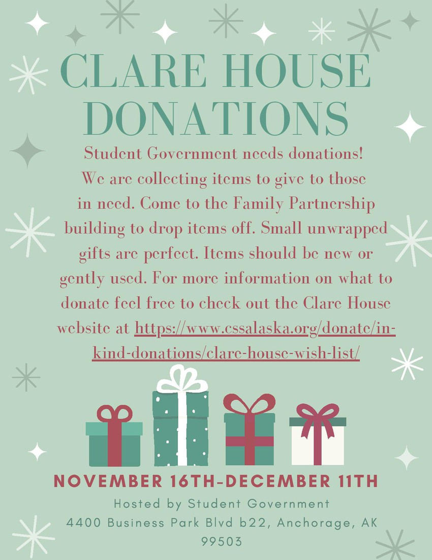claire house donation flyer