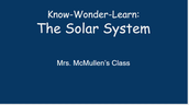 First Grade Students Share their Knowledge about the Solar System