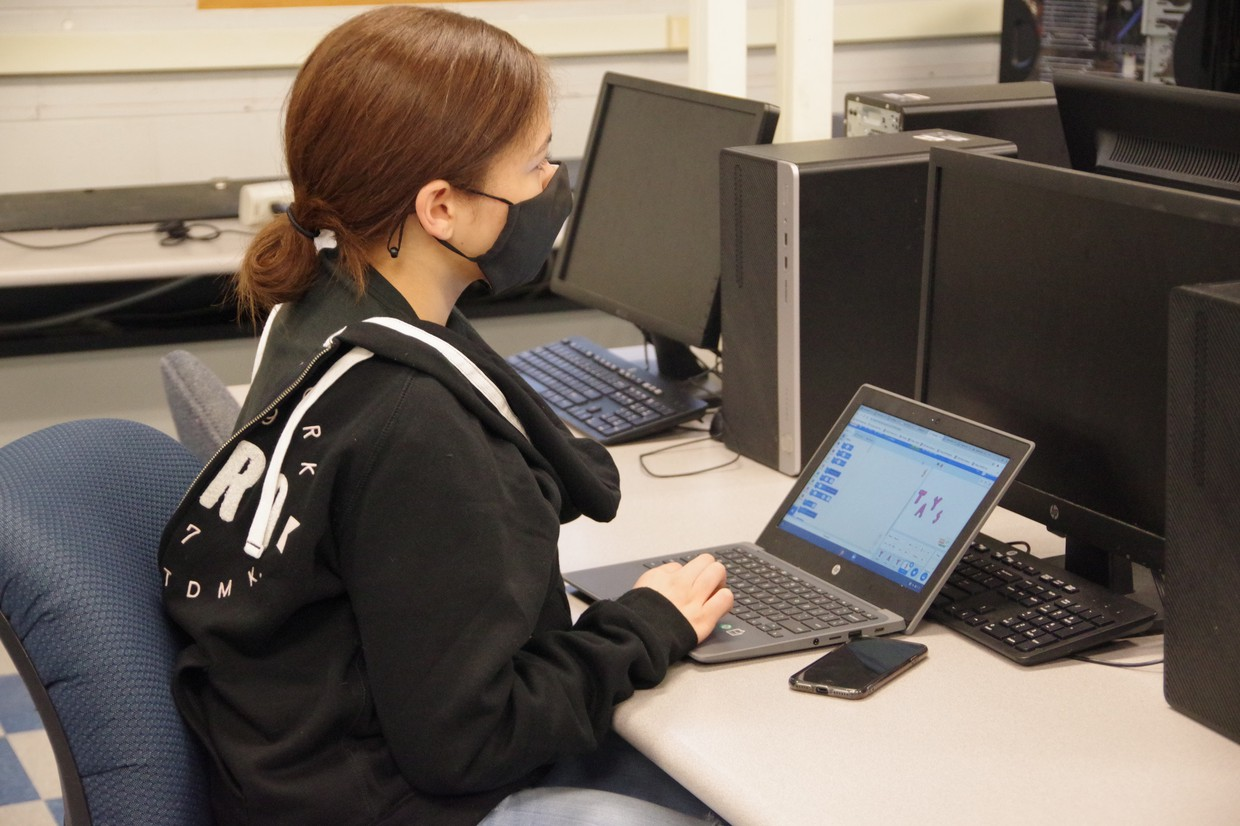 Dean student engaged in in-person learning