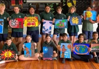 Maori Myth or Legend paintings